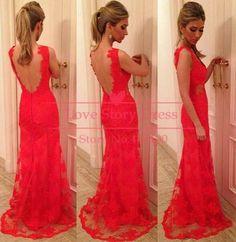 Red lace prom dress @Leslie Lippi Lippi Lippi Lippi Lippi Riemen Heyward