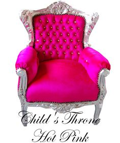 Childs hot pink throne £180
