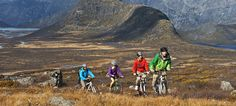 Mountain biking in Norway For a ticket to adventure, bring your mountain bike to Norway. There are cycle routes on gravel roads, in the mountains and along rough cart roads.