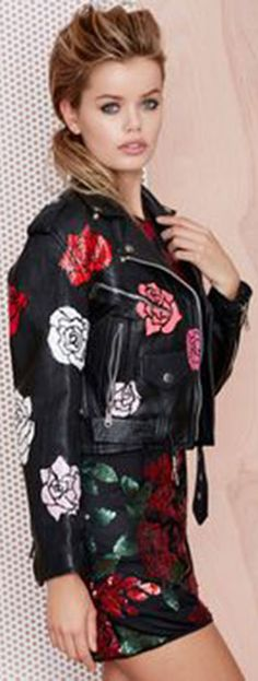 Nasty Gal x Peggy Noland Hand-Painted Leather Jacket