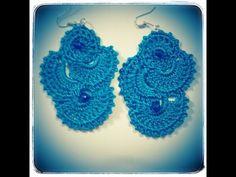Orecchini Uncinetto Turchesi -Earrings Crochet - YouTube