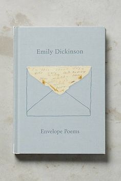 Anthropologie The Gorgeous Nothings: Emily Dickinson's Envelope Poems Book Nerd, Book Club Books, Book Lists, Good Books, Books To Read, Best Poetry Books, Book Suggestions, Book Recommendations, Book Cover Design
