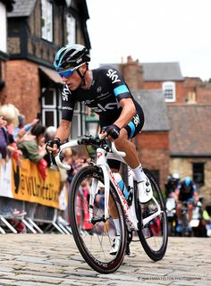 Peter Kennaugh competing in the Men's National Road Race Championships 2015, held in Lincoln.