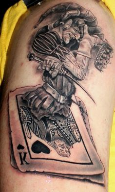 Kostas Baronis Proki card tattoo