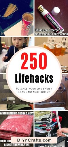 Top 250 Lifehacks and Clever Ideas that Will Make Your Life Easier - The BEST lifehacks! Simplify your life and appear smarter by applying these ingenious life-hacks to your daily life. This is probably the biggest lifehack post online all in one page no pagination.