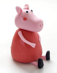 Pujsa Pepa iz tičino mase - Peppa Pig fondant