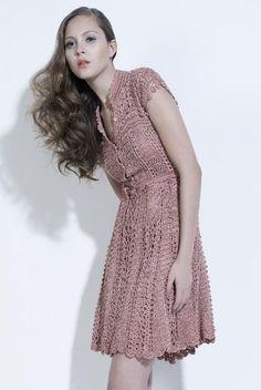 crochet dress. Good neckline