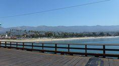 Plage de Santa Barbara vue du Stearn's Wharf #seesb