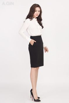 Made in A.GIN Waist Skirt, High Waisted Skirt, Busy At Work, Work Outfits, Gin, Business, Skirts, How To Make, Style