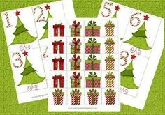 Our Country Road: Montessori Christmas Tree and Presents Cards and Counters