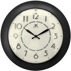 Infinity Instruments' Berkeley Black is a retro designed wall clock that will look great in any home. The clock features a black-finished case, matching the clocks retro black hands and Arabic numerals on the clocks retro designed white dial. This wall clocks convex lens is constructed out of shatter-resistant glass, making it a sturdy timepiece for any room in the home!