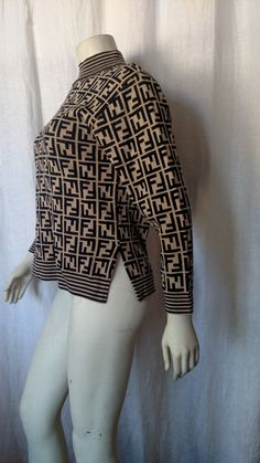Vintage 80s Fendi logo sweater