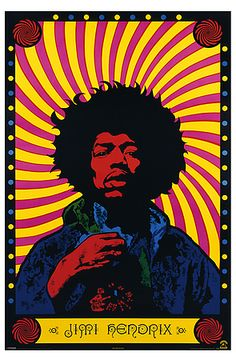 The Psychedelic Jimi Hendrix by Pyramid America