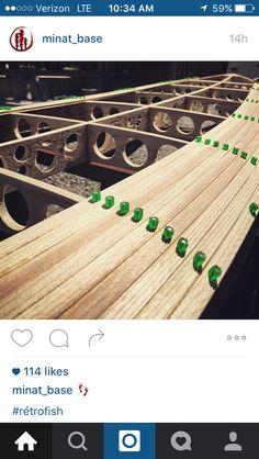 Interesting way to pin slats