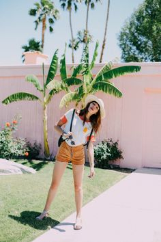 Hello, Saturday! @natalieoffduty catching rays in the Popsicle Ringer Tee. #campcollection