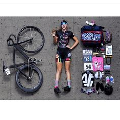 Women in tights... Women on bikes... — One matt black fixie, one fixie girl and a lot of...