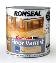 Ronseal Diamond Hard Clear Satin Floor Varnish 2.5L | Departments | DIY at B&Q