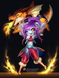 gumae: Dragon Trainer Tristana!Hype for season 6 >... #Leagueoflegends