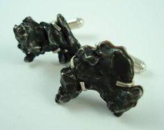 Meteorite Cufflinks.  So Cool