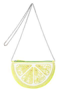 Primark - Bolso de mano en forma de medio limón