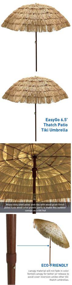 Umbrellas 180998: New Thatched Tiki Hawaiian Style Beach Pool Patio Garden  Lawn Umbrella Shade
