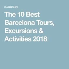 The 10 Best Barcelona Tours, Excursions & Activities 2018