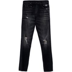 R13 Denim Trousers (€465) ❤ liked on Polyvore featuring mens, men's clothing, men's pants, men's casual pants and black