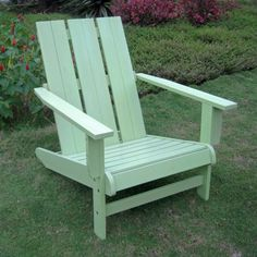 International Caravan Chelsea Acacia Adirondack Acacia Wood Patio Chair -Dimensions: 23W x 34D x 39H in. Weather and water-resistant. Painted in Custom Color.