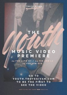 Troy Sivan Youth Music Video branding.