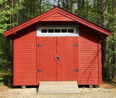 Red Wooden Shed - Dennis wants to paint ours...here's the inspiration!