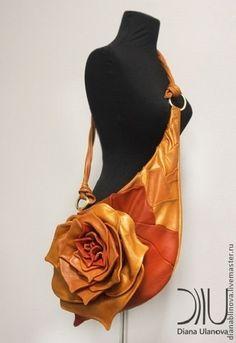 """Женские сумки ручной работы. Ярмарка Мастеров - ручная работа. Купить Золотая """"Роза"""". Handmade. Рыжий, подарок женщине"""