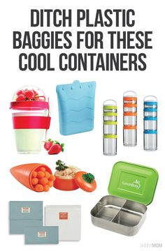 Ditch the plastic baggies and opt for these awesome containers!