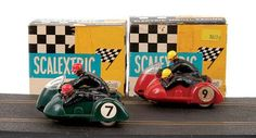 Photo: MAJOR SCALEXTRIC RACING, 1960's Boxed B1 Typhoon motorcycle and side cars