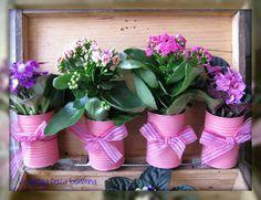 Flower pots by La valigia della bisnonna: VASETTI DI LATTA