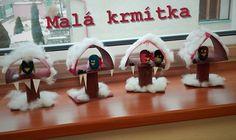 ✄ Pracovní list: Krmítka s ptáčkem Animal Crafts, Winter, Christmas Ornaments, Holiday Decor, Children, Creative, Internet, Paper Board, Crafting
