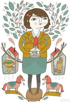 Anke Weckmann is my illustrator friend, I love everything she does...