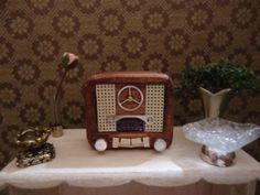miniature nostalgic radio by MINISSU on Etsy, $5.99