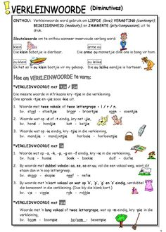 1st Grade Worksheets, Phonics Worksheets, School Worksheets, School Resources, Worksheets For Kids, Teaching Skills, Teaching Grammar, Teaching Aids, Afrikaans Language