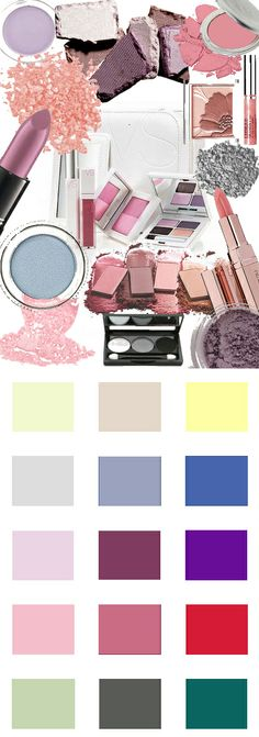 Makeup colors of the summer seasonal color type