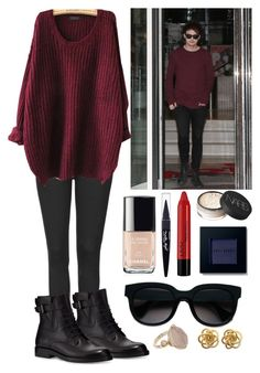 """""""Michael Blurb"""" by queenxpreference ❤ liked on Polyvore featuring Topshop, Lanvin, Balenciaga, NYX, NARS Cosmetics, Maybelline, Chanel and Bobbi Brown Cosmetics"""