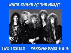 White Snake Concert Tickets June 8 Indianpolis Murat Theatre | eBay