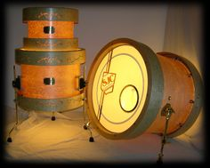 Never seen anything like it in my life! If these SJC drums sound half as good as they look, they'll be amazing.