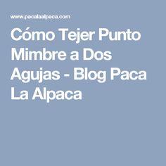 Cómo Tejer Punto Mimbre a Dos Agujas - Blog Paca La Alpaca
