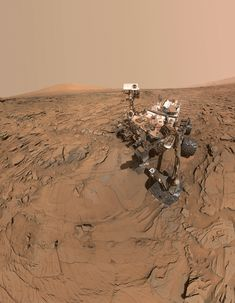 """This self-portrait of NASA's Curiosity Mars rover shows the vehicle at a drill site called """"Okoruso,"""" on the """"Naukluft Plateau"""" of lower Mount Sharp."""