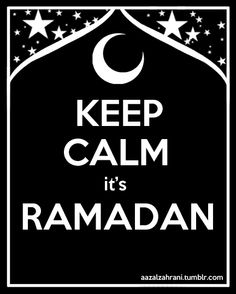 It's Ramadhan..I reccommend all faiths to join the 30 day fast to cleanse the mind, body and spirit.
