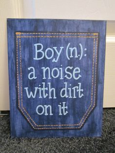 Hand-painted Quote Canvas. $10.00, via Etsy.