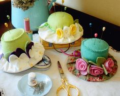 ladies tea party | Fancy Ladies Tea Party Hats as Pincushions » Creative Fat Grrl