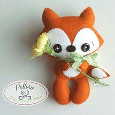 Tail Fox PDF pattern-Woodland animals от LittleThingsToShare