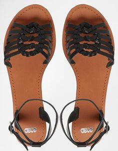 ASOS FAITHFUL Leather Woven Sandals