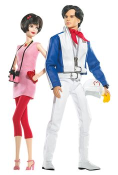2008 - Barbie® Loves Pop Culture - Speed Racer Giftset - Barbie® as Trixie and Ken® as Speed Racer #M6592